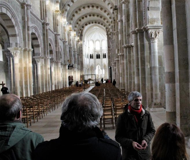 Basilica of St. Mary Magdalene - The lights of Winter in Vézelay