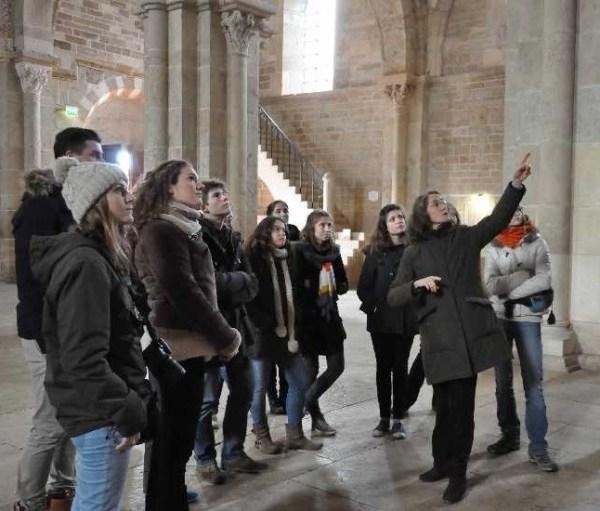 walk in the Basilique de Vézelay